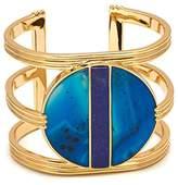 Lola Rose Garbo Divided Circle Aqua Blue Agate Cuff