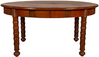 One Kings Lane Vintage Oval Dining Room Table with Spindle Legs - FEA Home