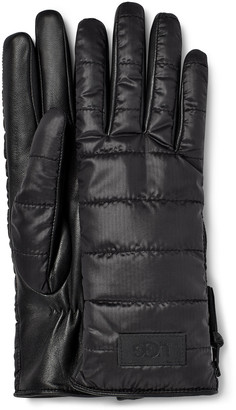 UGG Sherpa Fabric Leather Glove
