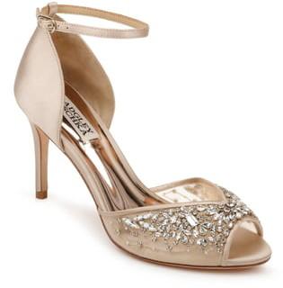 Badgley Mischka Collection Opera Crystal Embellished Ankle Strap Sandal