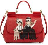 Dolce & Gabbana Sicily Medium Family Patch Bag, Red