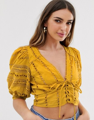 Rahi Cali Rahi Paradise Crop Corset-Yellow
