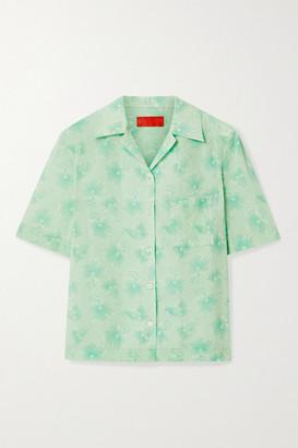 Commission Floral-print Cotton-voile Shirt - Mint