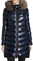 Moncler Aphia Hooded Puffer Jacket, Navy