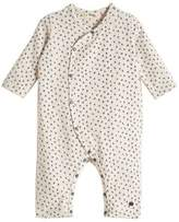 bonniemob Kimono-Style Bunny-Print Coverall, Light Gray, Size 0-18 Months