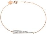 ginette_ny Diamond Arrow Bracelet - Rose Gold