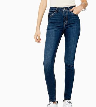 Topshop Tall Jamie skinny jean in rich blue