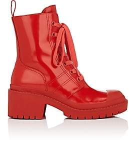 Marc Jacobs Women's Bristol Spazzolato Leather Ankle Boots-Red