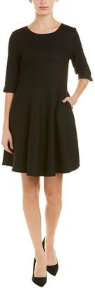 V&A Vogue Va Wool-Blend A-Line Dress