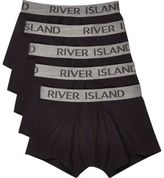 River Island Black Hipsters Multipack