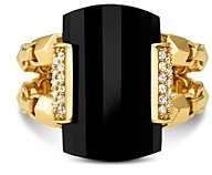 Michael Kors Statement Ring in 14K Gold-Plated Sterling Silver or 14K Rose Gold-Plated Sterling Silver