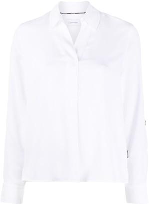 Calvin Klein Open-Collar Poplin Shirt