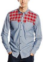 Wesc Men's Marv Long Sleeve Slim Fit Shirt