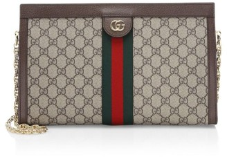 Gucci Linea Canvas Clutch