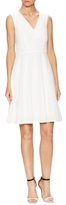 Carolina Herrera Cotton Floral Embroidered A-Line Dress