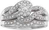 MODERN BRIDE I Said Yes! 1/3 CT. T.W. Certified Diamond Wave Bridal Ring Set