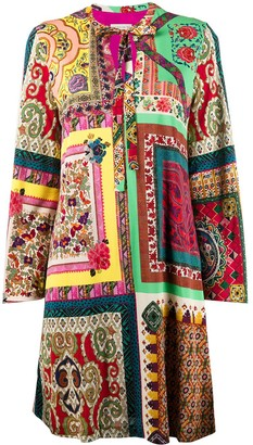 Etro Patchwork Shift Dress