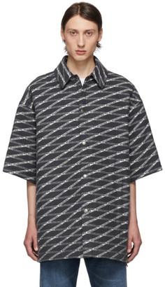 Balenciaga Grey Padded Shirt