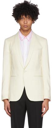 Lanvin White Shawl Collar Blazer