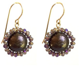 Susan Goodwin Jewelry Purple Pearl Earrings