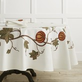 "Williams-Sonoma Williams Sonoma Pumpkin Embroidery Tablecloth, 90"" Round"