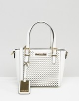 Carvela Micro Din Laser Cut Cross Body Bag