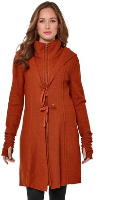 Joe Browns Vibrant Boiled Wool Blend Jacket - Burnt Orange