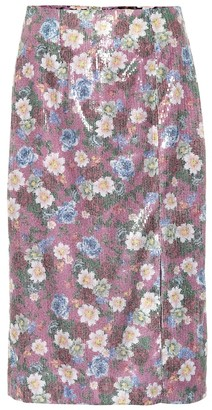 Erdem Tahira sequined floral skirt