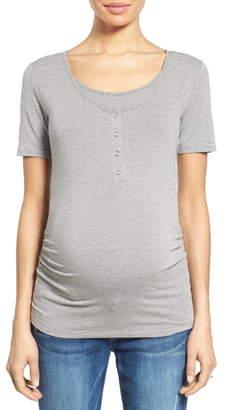 Nom Maternity Ruched Nursing/ Maternity Tee