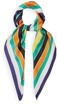 Diane von Furstenberg Dorian striped silk scarf