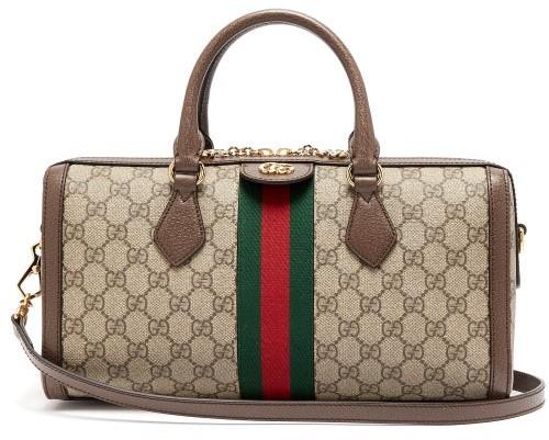 Gucci Ophidia Boston Gg Supreme Bag - Womens - Grey Multi