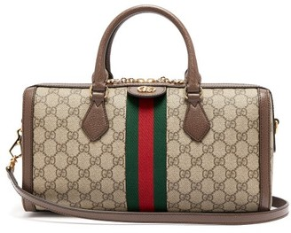 Gucci Ophidia Boston Gg Supreme Bag - Grey Multi