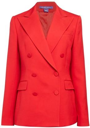 Ralph Lauren Purple Label Camden Wool & Silk Double-Breasted Jacket