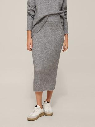 Modern Rarity Lofty Knit Skirt, Silver Grey