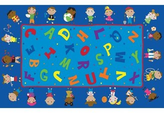 Kid Carpet Friends Together Friendship Area Rug Rug Size: 6' x 8'6""