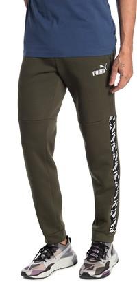 Puma Amplified Logo Stripe Fleece Sweatpants