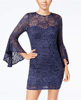 Trixxi Juniors' Bell-Sleeve Lace Dress