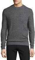 Theory Donners Cashmere Crewneck Sweater, Black Multi