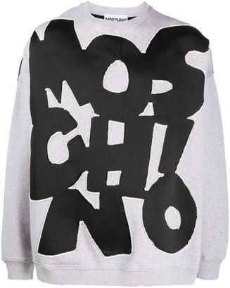 Moschino Cut-Out Logo Crew-Neck Sweatshirt