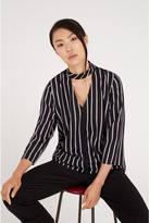 Louche Pazzy Cut-Out Stripe Blouse