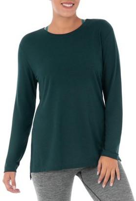 Athletic Works Women's Athleisure Long Sleeve Tunic Length Yoga T-Shirt