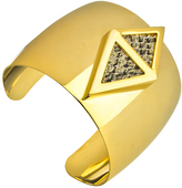 Roman Luxe Double Triangle Python Cuff