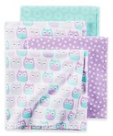 Carter's Owl Baby Receiving Blankets 4 Pack