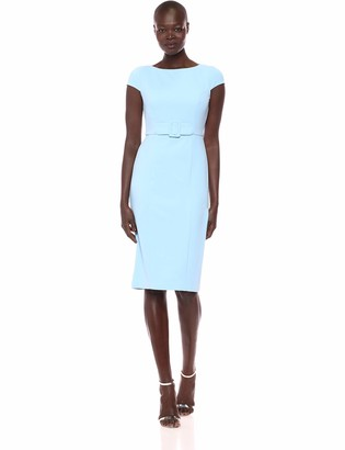 Donna Morgan Women's Sheath Dress with Inset Belt