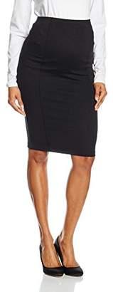 Mama Licious MAMALICIOUS Women's MLLUNA JERSEY PINTUC SKIRT Maternity Skirt,(Manufacturer size: Small)