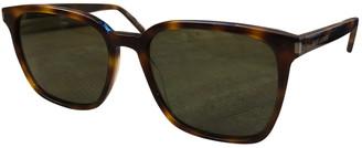 Saint Laurent Turquoise Plastic Sunglasses