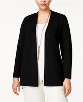 Calvin Klein Plus Size Open-Front Cardigan