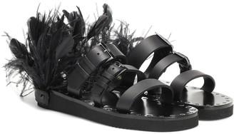 Valentino Escape leather sandals
