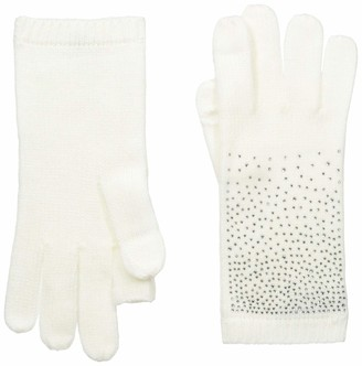 Calvin Klein Women's Ombre Crystal Studded Gloves