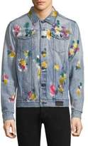 PRPS Celebrate Rainbow Splatter Denim Jacket